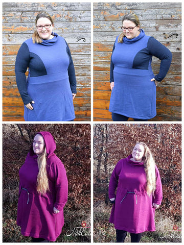 "eBook ""November rain Curvy"" - Kleid - From Heart to Needle - Glückpunkt."