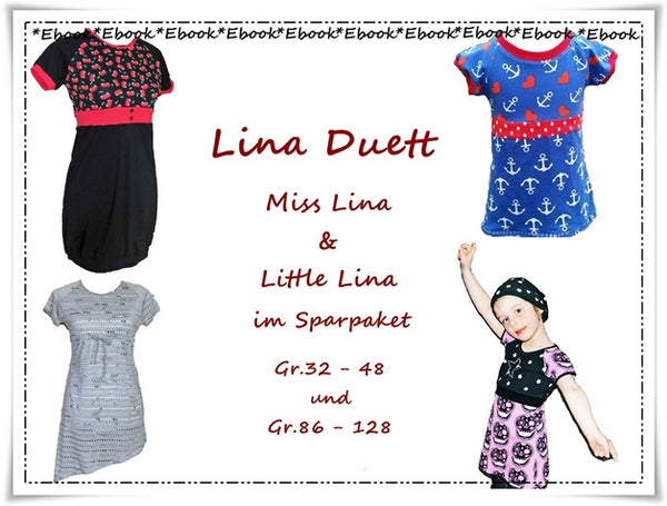 "Kombi-eBook - ""Little Lina & Miss Lina"" - Tunika/Kleid - Frau Ninchen"