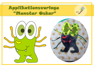 "Applikationsvorlage - ""Monster Oskar"" - Herzensbunt Design"