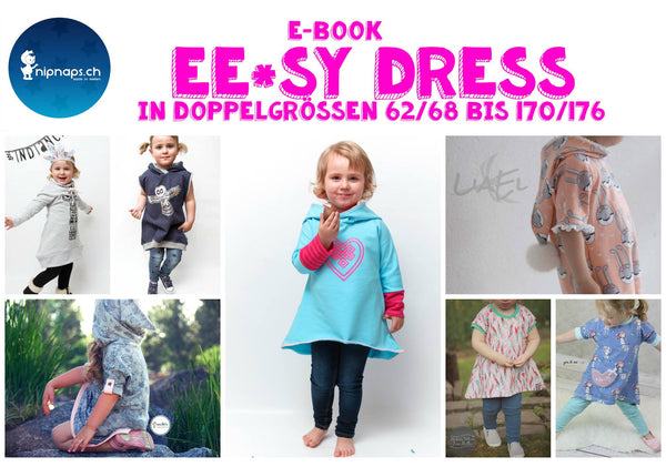 "eBook - ""Ee*sy Dress"" - Kleid -  NipNaps- Glückpunkt."