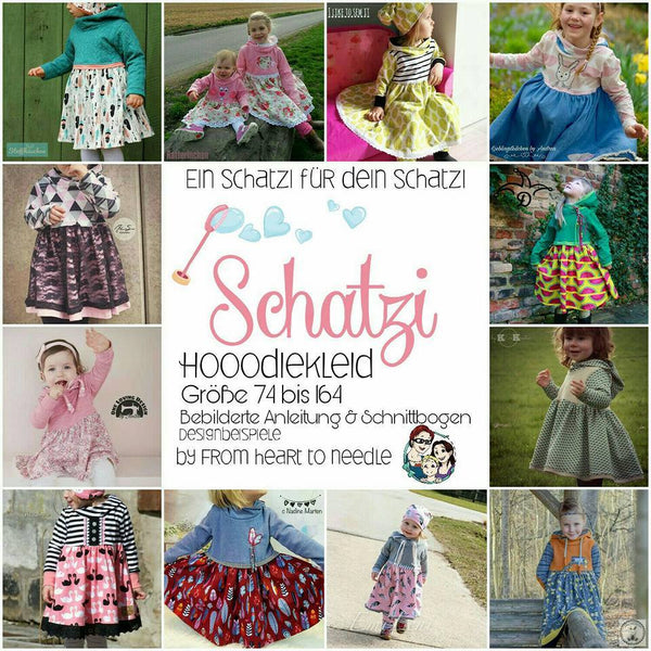 "eBook - ""Schatzi"" - Hooodie, Hoodiekleid, Kleid, Hoodie, Pulli, Ballonpullover, -kleid oder -tunika - From Heart to Needle"
