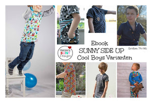 "eBook - ""Sunny Side Up"" - AllinShirt - Cool Boys - Herzensbunt Design - Glückpunkt."