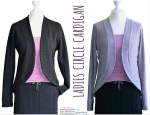 "eBook - ""Ladies Circle-Cardigan"" - Jacke - Sara & Julez - Glückpunkt."