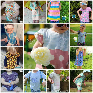 "Kombi-eBook - ""Sonnenkinder"" - Shirt, Tunika, Bluse, Rock, Hose - inkl. Plott - From Heart to Needle"