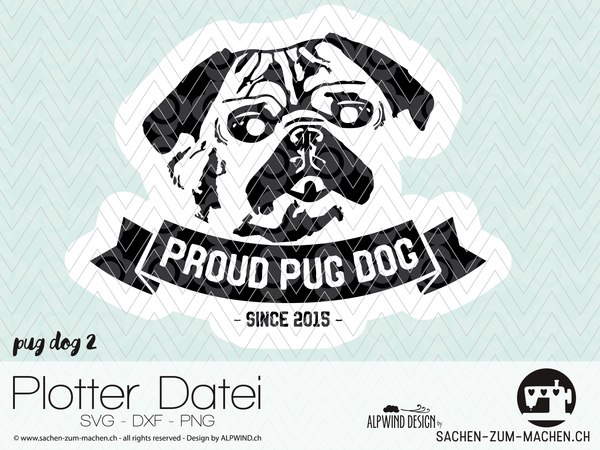 "Plotterdatei - ""Pug Dog 2"" - Alpwind"
