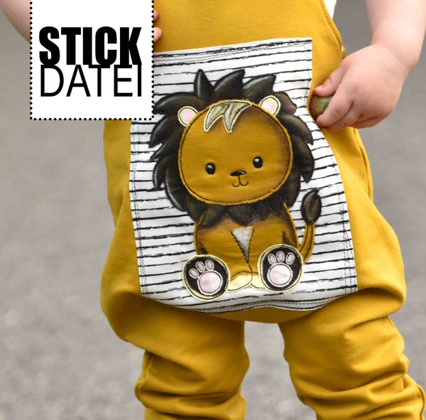 "Stickdatei - ""Cute Lion"" - Fadenspiel"