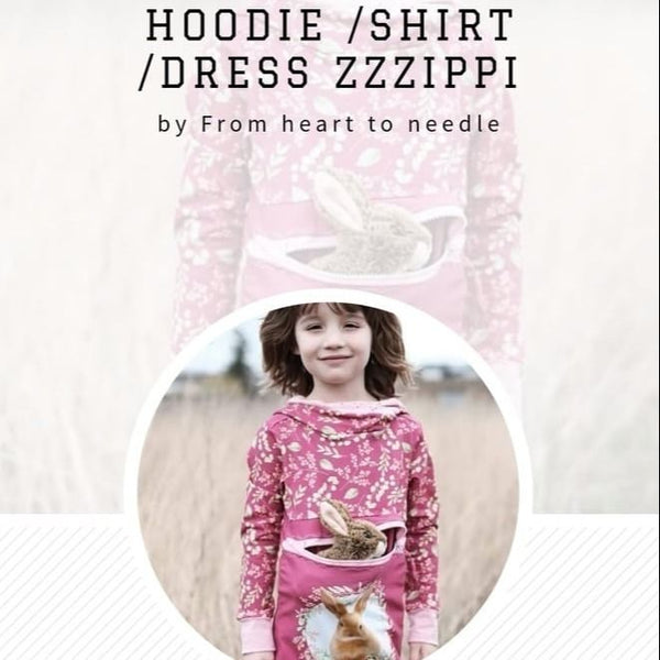 "EBook - ""ZZZIPPI"" - HOODIE/SHIRT/KLEID/DRESS/PULLI  - From Heart to Needle"