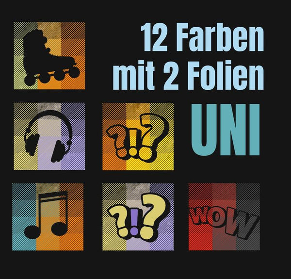 "Plotterdatei - ""12-Farben Uni"" -  Daddy2Design"