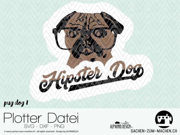 "Plotterdatei - ""Pug Dog 1"" - Alpwind"