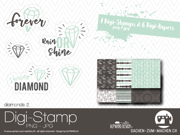 "DigiStamp - ""Diamonds 2"" - Alpwind"
