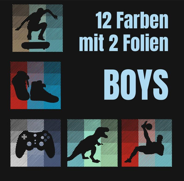"Plotterdatei - ""12-Farben Boys"" -  Daddy2Design"