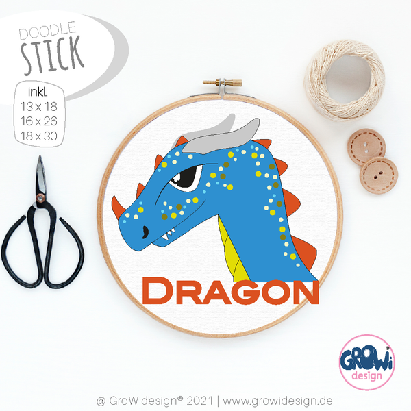 "Stickdatei - ""Drago"" - GroWidesign"