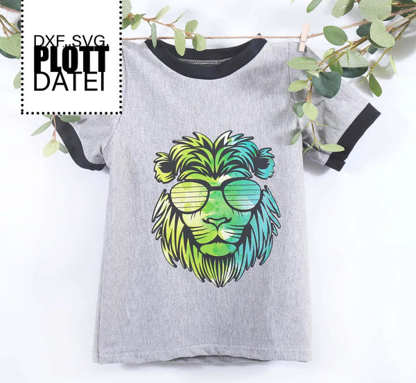 "Plotterdatei - ""Crazy Lion"" - Fadenspiel"