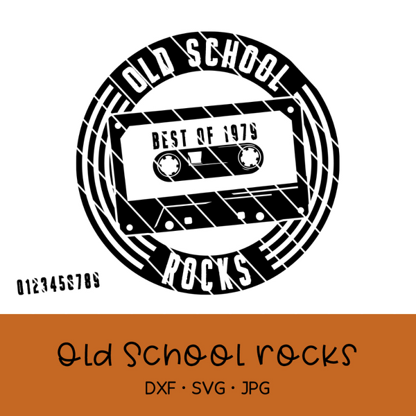"Plotterdatei - ""Old School Rocks"" - Oma Plott"