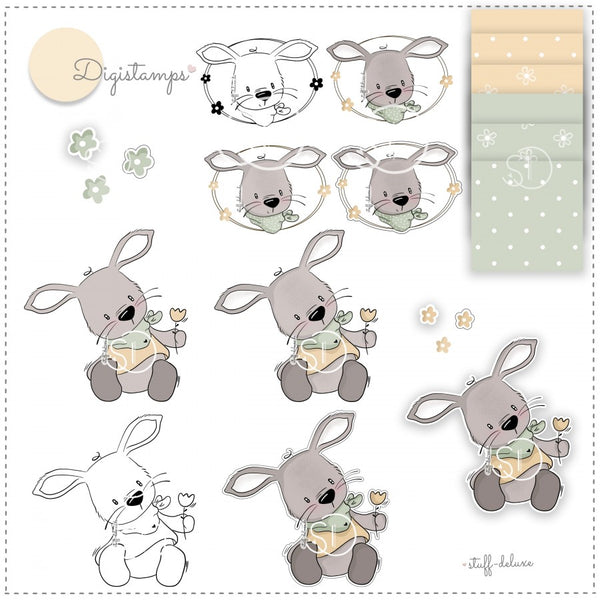"DigiStamp - ""Hase Max"" - Stuff-Deluxe"