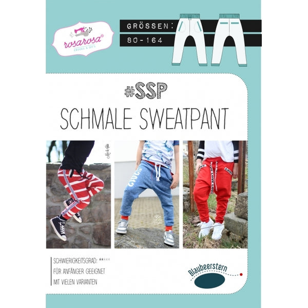 "Schnittmuster - ""Schmale Sweatpants"" - Hose - Rosarosa"