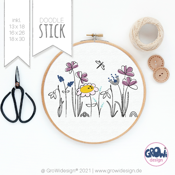 "Stickdatei - ""Blumenwiese"" - GroWidesign"