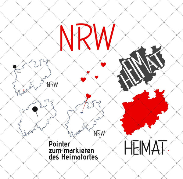 "Plotterdatei - ""Heimat - NRW"" -  Daddy2Design"