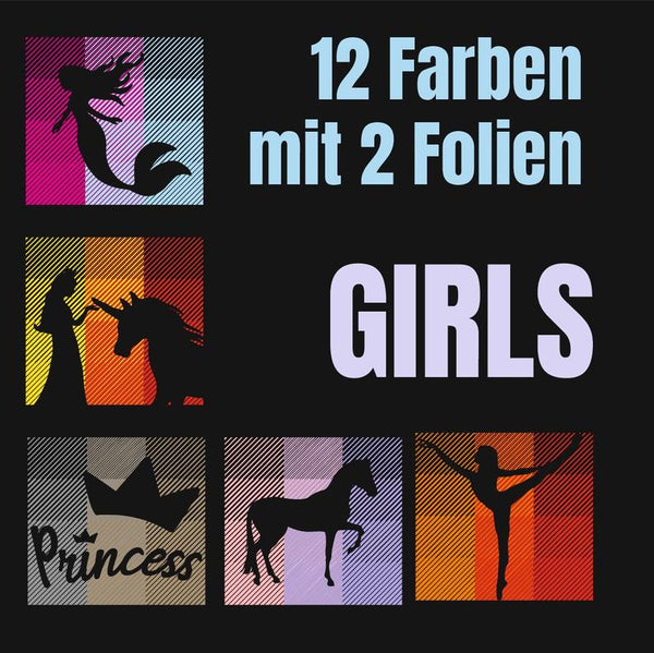 "Plotterdatei - ""12-Farben Girls"" -  Daddy2Design"