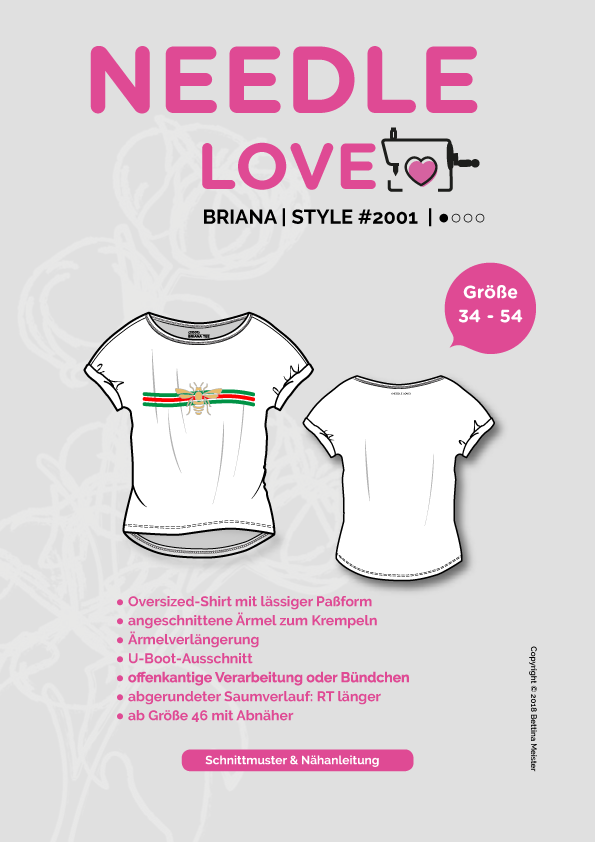 "eBook - ""Briana"" - Shirt - Needle Love - Glückpunkt."