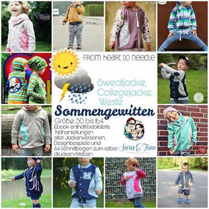 "eBook - ""Sommergewitter"" - Jacke - From Heart to Needle - Glückpunkt. Shop"
