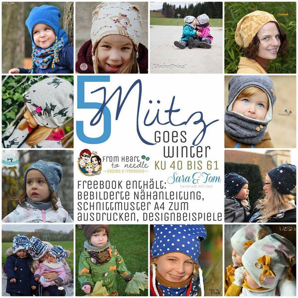 "Freebook - ""5Mütz goes Winter"" - Mütze - From Heart to Needle - Glückpunkt. Shop"