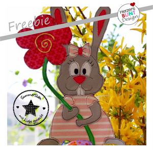 "Freebook-Applikationsvorlage - ""Geraldine, die Hasendame"" - Hasen-Freebie - Herzensbunt Design"