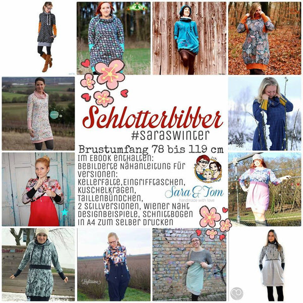 "eBook - ""Schlotterbibber #SarasWinter"" - Kleid/Pullover - From Heart to Needle"