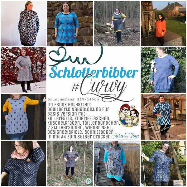 "eBook - ""Schlotterbibber #SarasWinter - Curvy"" - Kleid/Pullover - From Heart to Needle"