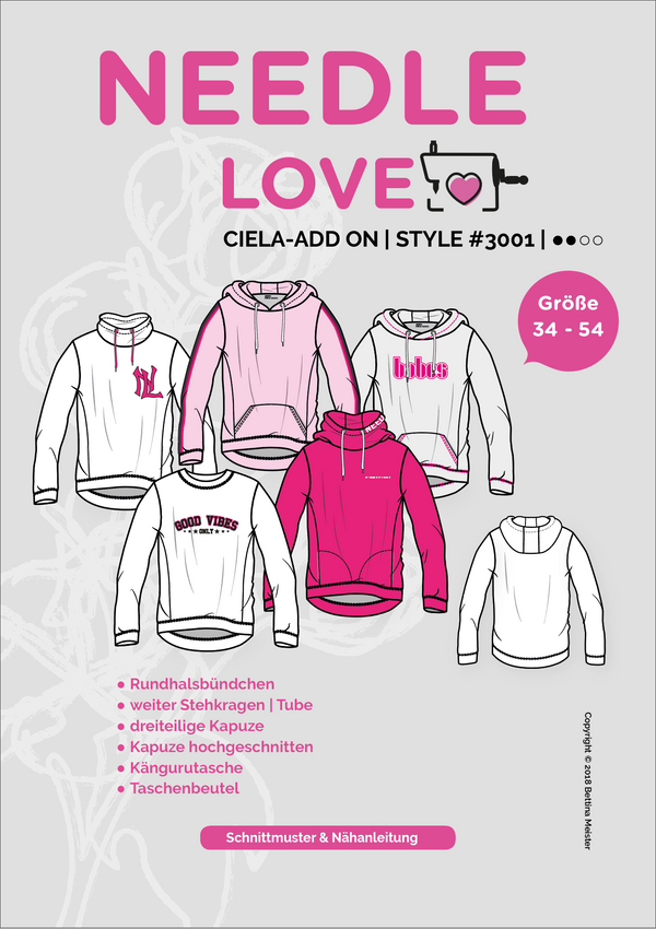 "eBook - ""Ciela Ad-On"" - Pullover - Needle Love - Glückpunkt."