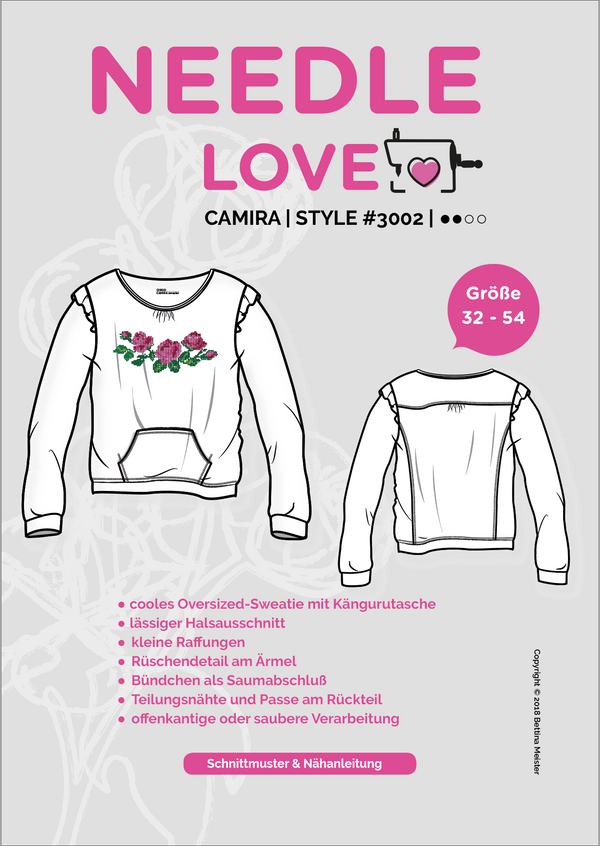 "eBook - ""Camira"" - Pullover - Needle Love - Glückpunkt."