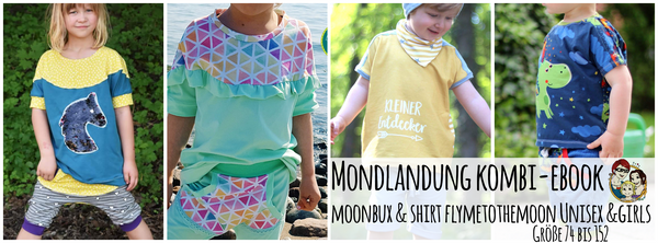 "Kombi-eBook - ""Mondlandung"" - Hose & Shirt - From Heart to Needle"
