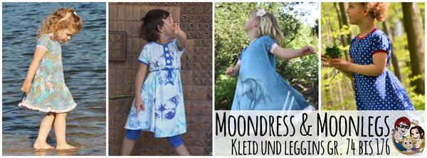 "Kombi-eBook - ""Moondress & Moonlegs"" - Hose & Kleid / Tunika- From Heart to Needle - Glückpunkt."