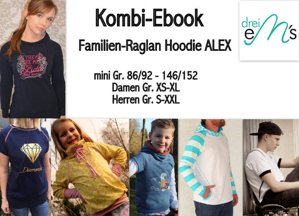 "Kombi-eBook - ""Alex Family Pack"" - Hoodie - Drei eMs"