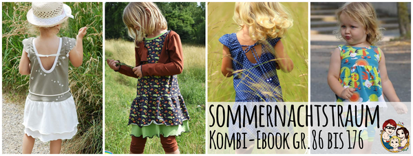 "Kombi-eBook - ""Sommernachtstraum"" - Kleid/Shirt/Jacke/Hose - From Heart to Needle - Glückpunkt."