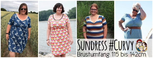 "eBook - ""Sundress Curvy"" - Shirt/Kleid - From Heart to Needle - Glückpunkt."