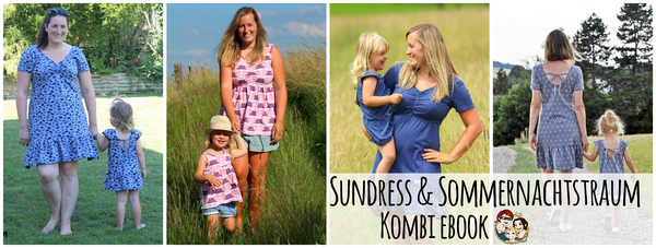 "Kombi-eBook - ""Sundress & Sommernachtstraum"" - Shirt/Kleid - From Heart to Needle - Glückpunkt."