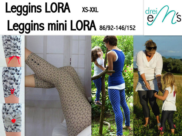 "Kombi-eBook - ""Lora & Mini Lora"" - Leggins - Drei eMs"