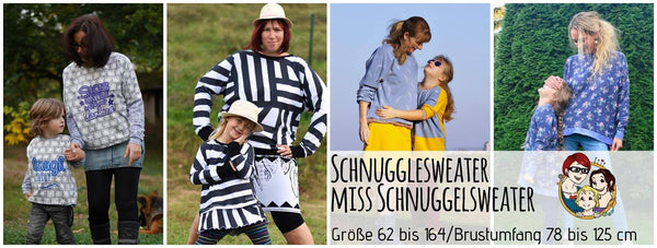 "Kombi-eBook ""Schnugglesweater & Miss Schnuggelsweater"" - Pullover - From Heart to Needle - Glückpunkt."