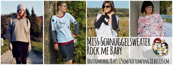 "Kombi-eBook ""Miss Schnuggelsweater & Rock me Baby"" - Pullover & Rock - From Heart to Needle - Glückpunkt."