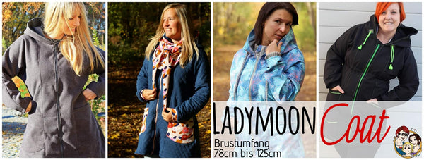 "eBook - ""Ladymoon Coat"" - Mantel - From Heart to Needle - Glückpunkt."
