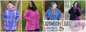 "eBook - ""Ladymoon Coat Curvy"" - Mantel - From Heart to Needle - Glückpunkt."