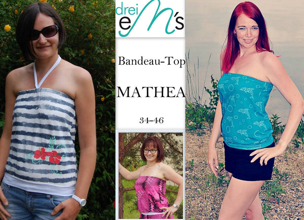 "eBook - ""Bandeau Top Mathea"" - Shirt - Drei eMs - Glückpunkt."