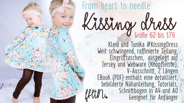 "eBook - ""Kissing Dress"" - Kleid - From Heart to Needle - Glückpunkt."