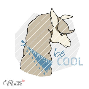 "Applikationsvorlage - ""Lama be cool"" - Eifelzwerg - By.ysonne"