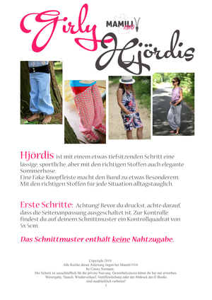 "eBook - ""Hjördis Girly"" - Hose - Mamili1910"