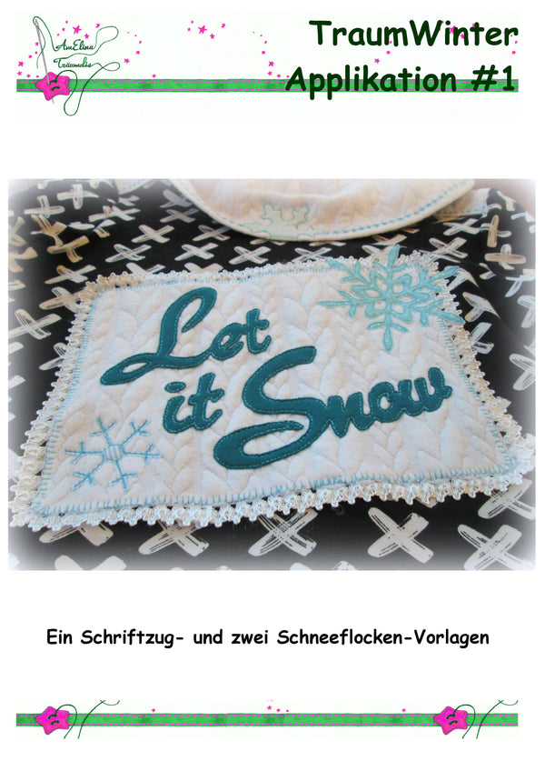"Applikationsvorlage - ""TraumWinter Applikation #1 - Let it Snow"" - AmElina Träumelie - Glückpunkt."