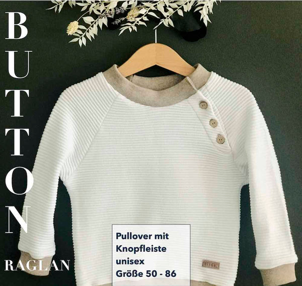 "eBook - ""BUTTON RAGLAN Baby"" - Pullover - Sara & Julez"