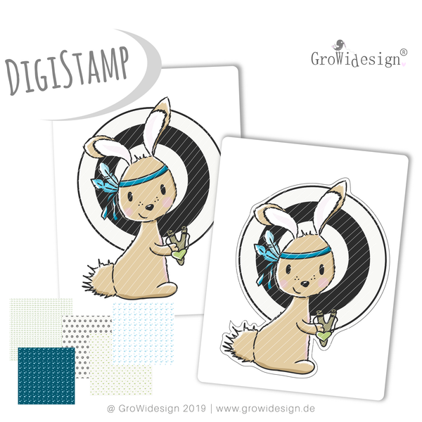 "DigiStamp - ""Bandit"" - GroWidesign - Glückpunkt."