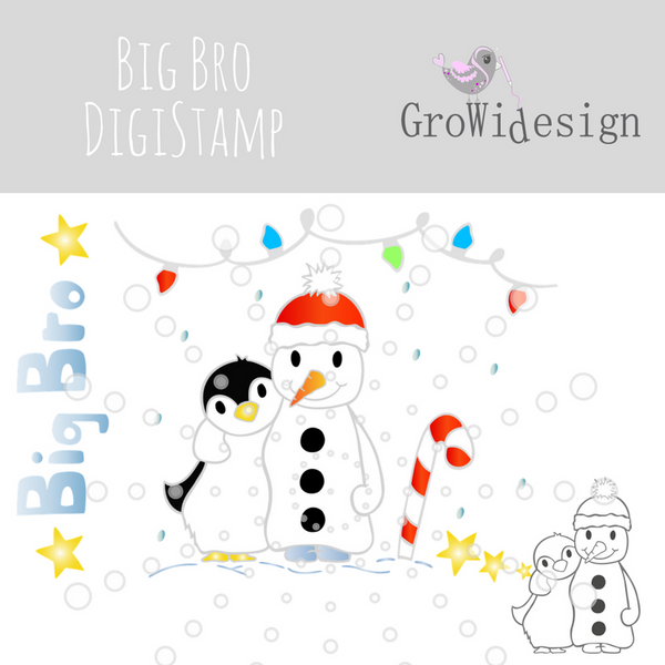 "DigiStamp - ""Big Bro"" - GroWidesign - Glückpunkt."